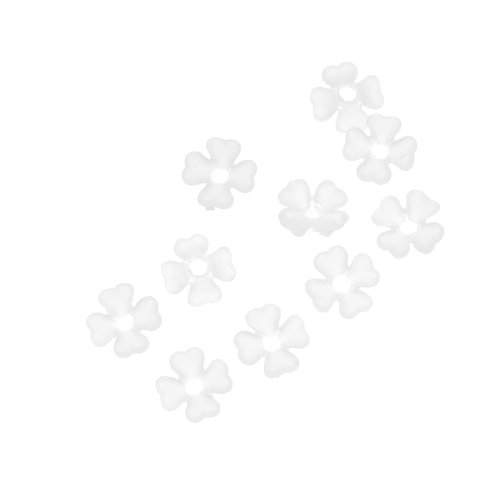 Beadaholique Lucite Baby's Breath Tiny Light Weight 10-Piece Flower Beads, 6mm, Matte (Lucite Flower Beads)