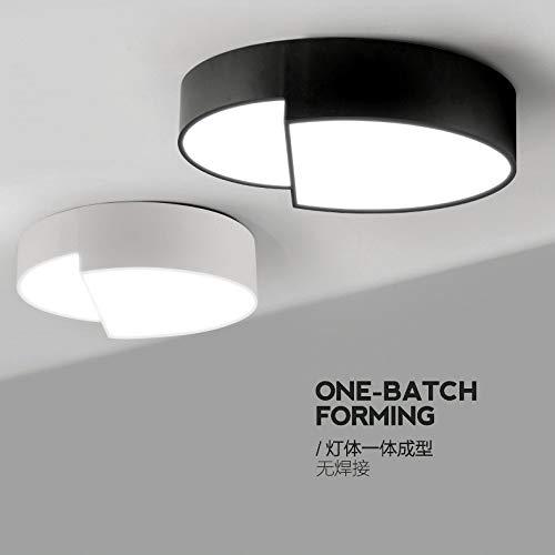 Europäische Artschlafzimmerselbstkunstsauglichtkuppelleuchte moderne vereinfachte LED-Lampenraumleseraum-Balkonbeleuchtung, Phi 40  10cm24W trichromaticdoppelte Helligkeit
