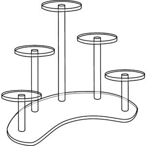 5-Pedestal Acrylic Display Stands by Retail Resource