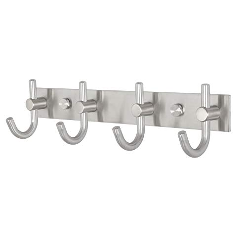 WEBI Coat Hooks, SUS 304 Heavy Duty Single Hat Kitchen Bath Towel Hook Robe Closet Clothes Hanger Rail Garment Rack Holder Home, Wall Mounted, Brushed Nickel