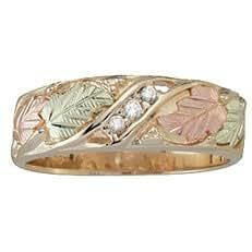 Amazon.com: Black Hills Gold Three Stone Womens Diamond ...