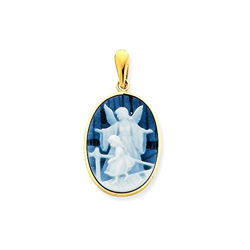 Child Agate Cameo Pendant - 7