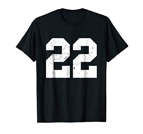 #22 Sports Fan Player T Shirt Number 22