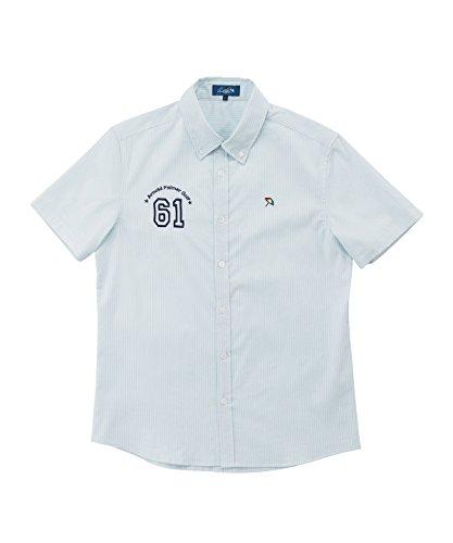 アーノルドパーマー メンズ ゴルフ ポロシャツ 半袖 ストライプクロス半袖BDシャツ AP220101H11 SAX M