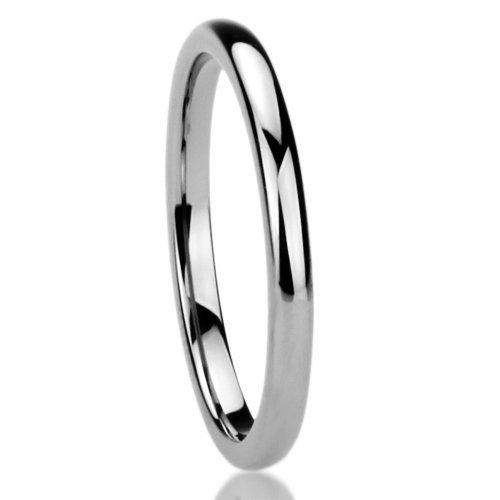 Wedding Band Series: Athena Jewelry Titanium Series 1.5 MM Titanium Comfort Fit