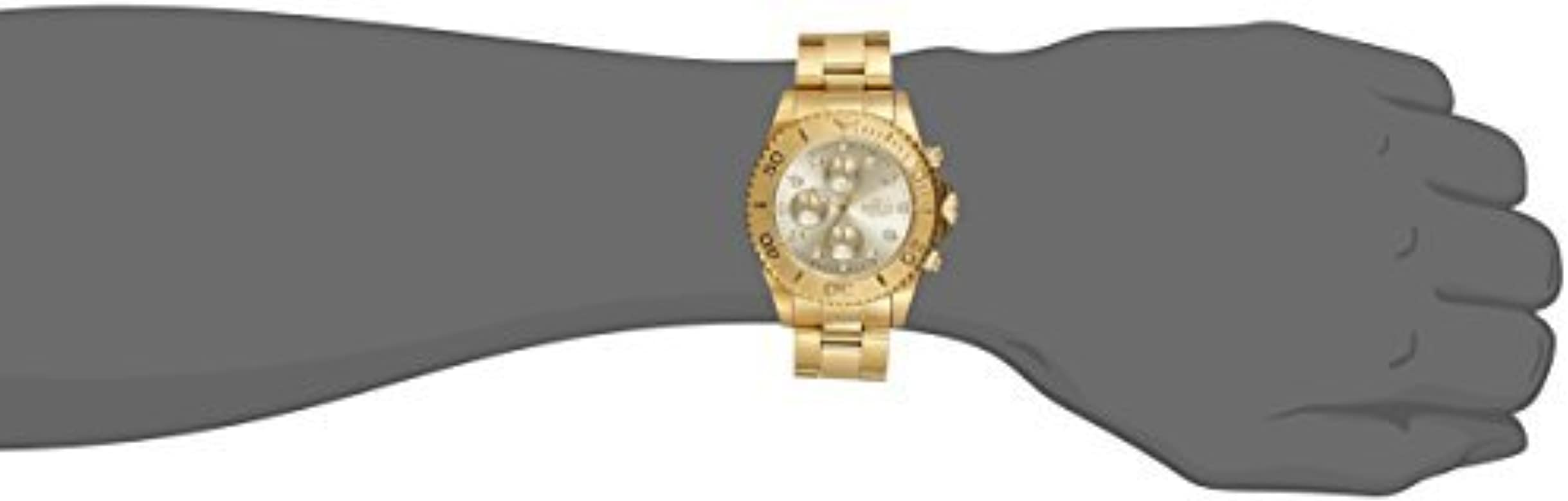 Invicta Men 1774  ProDiver Collection 18k Gold IonPlated Stainless Steel Watch