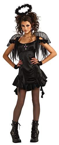 Rubie's Gothic Angel Teen Costume, Black, Teen