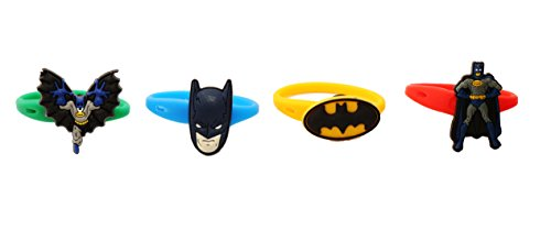 [AVIRGO 4 pcs Colorful Releasable Ponytail Holder Elastic Rubber Stretchable No-slip Hair Tie Set # 4-7] (Firefly Batman Costume)