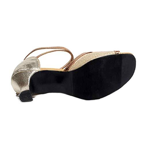 Bal Chaussures À Durable Dames En Danse Pour Clair Semelle Salle Or Caoutchouc Huicai De xaIdCqq