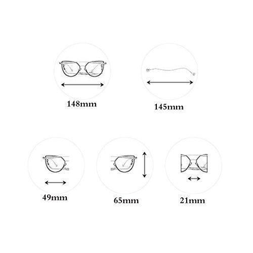 Face 2 Sol Sun Design Face Ball 2 Gafas Color Moda Round TP de Gafas Visor de Makeup Sol 1xRY8wnxTq