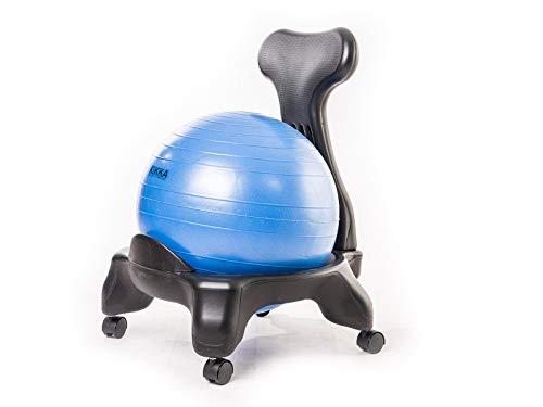 Kikka Silla Activa Azul–Silla ergonomica con Bola de Ejercicio