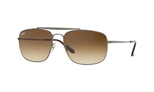 Ray-Ban Men's Steel Man Sungkass Square Sunglasses, Gunmetal, 60 - General Ban The Ray