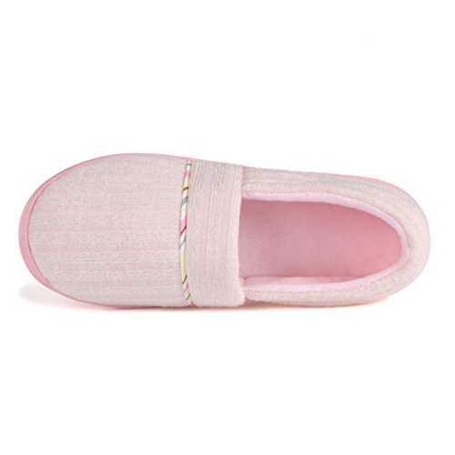 Cotton Anti Shoes Cellicigal Knit Comfort Slippers Home FBA Slip Indoor On Women Slip Pink Bedroom Uqw55cxrt7