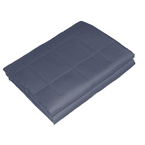 Viki Softest Weighted Blanket (48''x72'', 12lbs for 110 - 130lbs individual, Dark Grey) for Kids, Teens, Adults   Helps Reduce Stress and Anxiety, Great for ADHD, Autism, OCD   Fit Full and Queen Bed by Viki