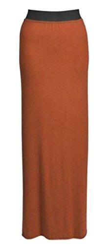 MIXLOT de nouvelles longueur jupe loisirs jupe jersey d't lot les toutes couleurs vtements femmes plaine dames long de gitanes taille 42 lastique maxi Mlanger 36 De Rouille EqprtwE