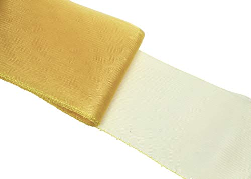 Crinoline Horsehair Braid for Millinery 6 (16 cm) Wide - Sold by The Yard - Gold