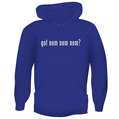 got nom nom nom? - Men's Funny Soft Adult Hoodie Pullover, Blue, X-Large