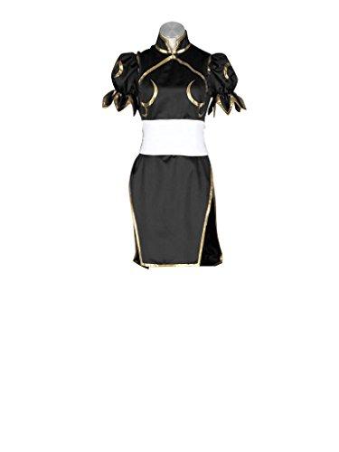 [Mtxc Women's Street Fighter Cosplay Costume Chun Li 2nd Kid Size Small Black] (Street Fighter Kid Costume)