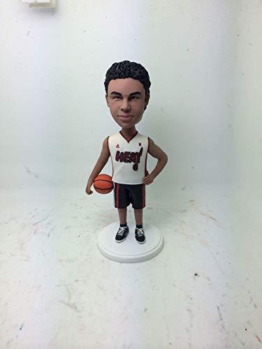 Baloncesto personalizado novio baloncesto Bobble cabeza baloncesto estatuilla de arcilla baloncesto cumpleaños pastel Topper...
