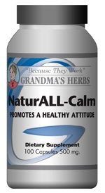 NaturAll Calm -Herbal Remedy Formulated with St. Johns Wort for Anxiety & Depression - 100 Capsules