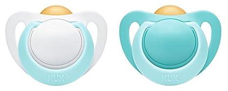 Nuk Genius - Chupete de látex, forma ortodóntica, libre de BPA, 2 ...