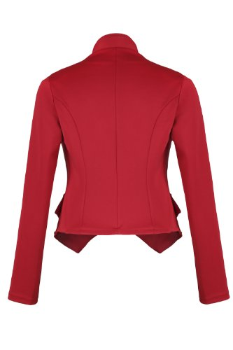 Style Blazer Rouge courte Militaire Veste 4tuality AO AxPpq