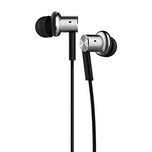 Driver Pro In Ear Earphones - Mi In-Ear Headphones Pro Silver Dual Driver Earbuds with Mic, including 3 size earbuds (US Version with Warranty)