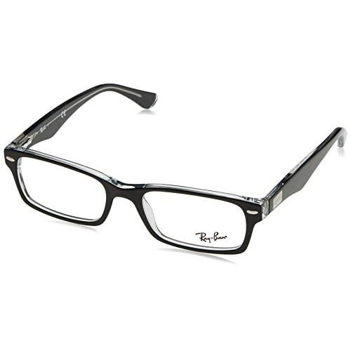 3a22f6962d El servicio durable Ray-Ban RX5206 Gafas en negro sobre rojo de textura  RX5206 2479
