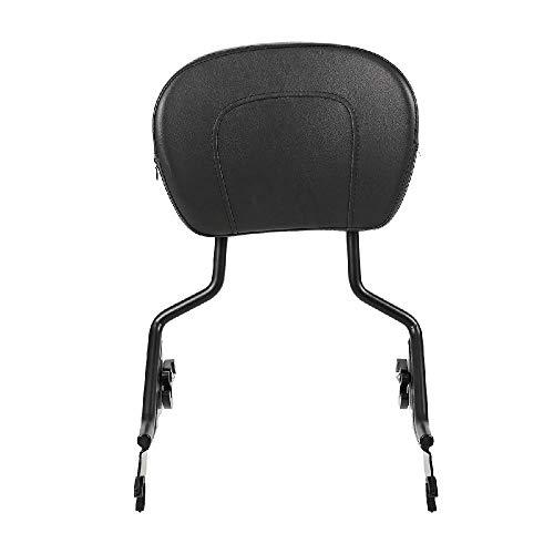 INNOGLOW Black Detachable Backrest Sissy Bar Upright Passenger Backrest with Pad for Harley Touring Street Glide Road King 09-2018 ()