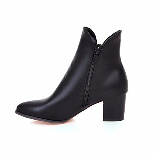 pointed high heels buckle big belt lady boots Martin yards Black Autumn boots w7nTzfWqw