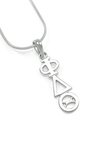 Phi Delta Theta Fraternity Classic Sterling Silver Lavaliere / Fraternity Gifts Phi Delta Theta Fraternity
