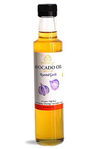 Roasted Garlic Infused Avocado Oil 8 oz, Cold Pressed, Keto/Paleo Cooking Oil, NON-GMO, Made in USA