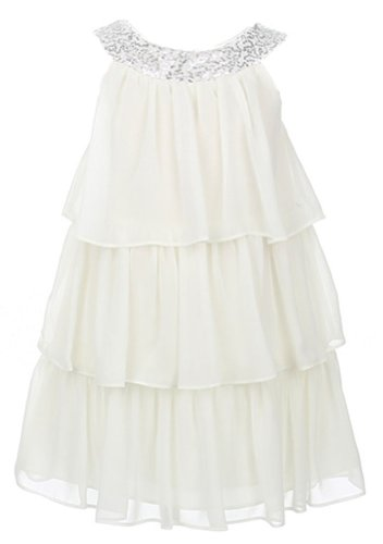 Sweet Kids Big Girls' Triple Tiered Chiffon Dress 14 Off ...