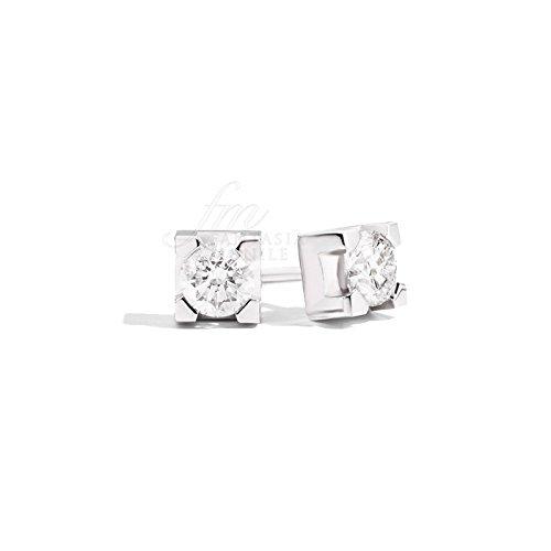 Boucles d'oreilles Femme Point Lumière diamants naturels oro18kt modèle maria teresa recarlo e30px265/018