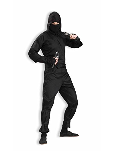 Forum 75571-BLK-XL Men's Deluxe Ninja Adult Costume, X-Large, Black, Pack of 1