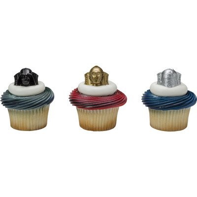 Star Wars Darth Vader, C-3PO and R2-D2 Cupcake Rings - 24 pc