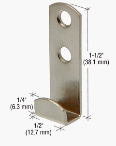 - CRL 3/8 Standard Round Lip Mirror Clip - Pack of 4 Clips by C.R. Laurence