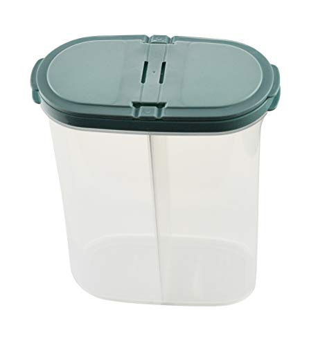ARAD Dog Food Storage Container with Divider, Cat Food Holder, Pet Treat Canister ()