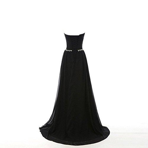 Les Robes De Demoiselle D'honneur Longue En Mousseline De Soie De Femmes De Mariée Aurora 2018 Robes De Bal Ab018 Vert-78