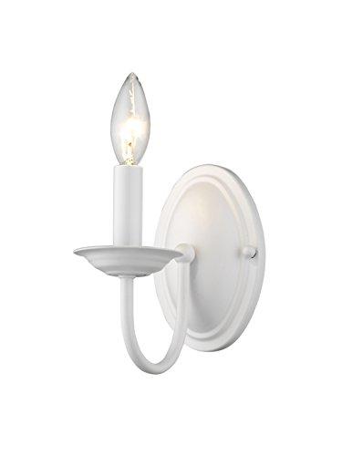 Livex Lighting 4151-03 Williamsburg 1-Light Wall Sconce, White
