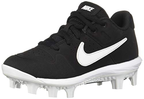 Nike Boys' Alpha Huarache Varsity Low MCS (BG) Baseball Shoe Black/White - Oil Grey 6Y Regular US Little Kid