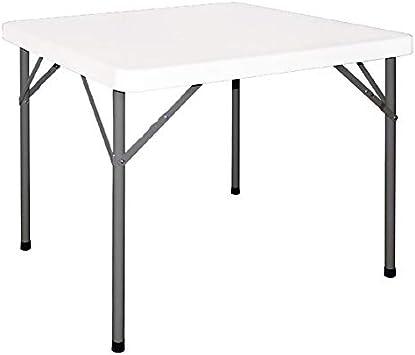 Chiner Table Pliante Blanc 86 X 86 Cm Amazon Fr Jardin