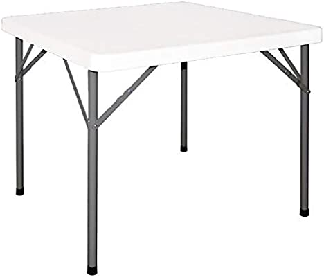 chiner - Mesa Plegable Blanca (86 x 86 cm.): Amazon.es: Jardín
