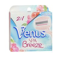 Gillette Venus Spa Breeze 2 in 1 Cartridges Plus Shave Gel Bars - 4 CT