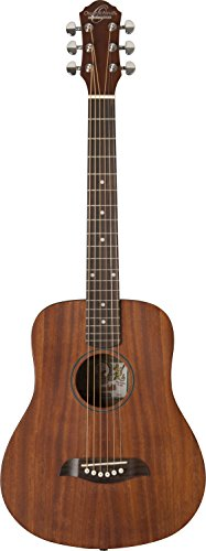 Oscar Schmidt 6 String Mini Acoustic Travel Guitar. Natural, Right - Guitar Natural Travel