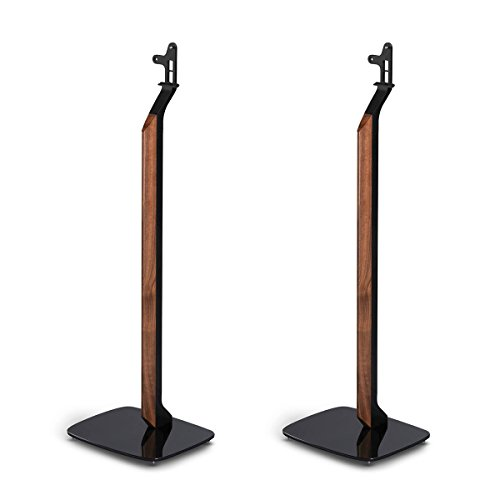 Flexson Premium Floor Stands for Sonos PLAY:1 - Pair (Black) by Flexson