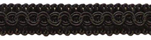1.27cm Basic Trim Decorative Gimp Braid, Style# 0050SG Color: BLACK - K9, Sold by the Yard (1 Yard = 91cm / 3ft / 36