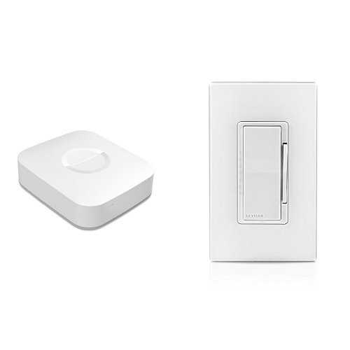 Samsung SmartThings Hub, 2nd Generation, and Leviton DZ6HD-1BZ Decora Smart 600W Dimmer with Z-Wave Technology, White/Ivory/Light Almond, Works with Alexa