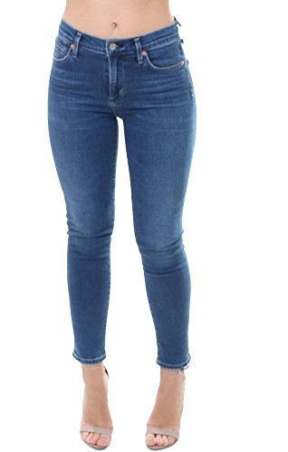 Rise Of High Humanity Citizens (Citizens of Humanity Jeans High Rise Medium Wash Cropped Denim - Blue - 28)