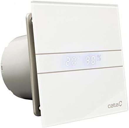 Cata | Extractor baño | Modelo e- 120 Gth | Estractor de baño Serie e Glass | Bajo Consumo | Ventilador Extractores de aire alta Eficiencia Energética | Extractor baño silencioso